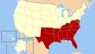 US south map