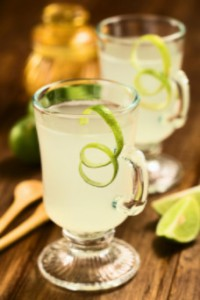 Glass of lemonade with lime zest: WeedWired Industry News Blog